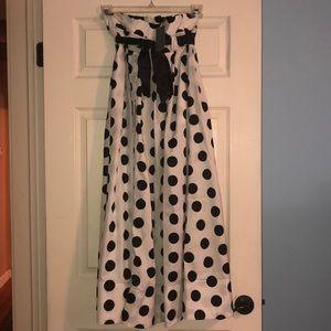 polka dot Gracia maxi skirt